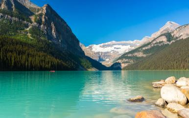 Lake Louise at the rocky mountains beautiful Alberta banff canada  : Stock Photo or Stock Video Download rcfotostock photos, images and assets rcfotostock | RC-Photo-Stock.: