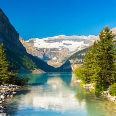 Lake Louise in summer beautiful Alberta in banff canada  : Stock Photo or Stock Video Download rcfotostock photos, images and assets rcfotostock | RC-Photo-Stock.: