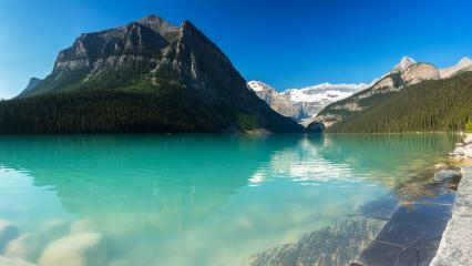 Lake Louise panoramic view at the banff national park Canada  : Stock Photo or Stock Video Download rcfotostock photos, images and assets rcfotostock | RC-Photo-Stock.: