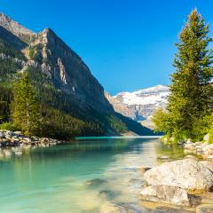 Lake Louise rocky mountain lake in banff canada  : Stock Photo or Stock Video Download rcfotostock photos, images and assets rcfotostock | RC-Photo-Stock.: