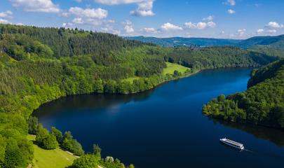 Lake Rursee at summer, Eifel Germany- Stock Photo or Stock Video of rcfotostock | RC-Photo-Stock