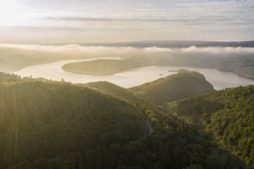 Lake Rursee at the morning, Eifel Germany- Stock Photo or Stock Video of rcfotostock | RC-Photo-Stock