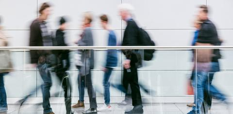large blurred anonymous people walking in a corridor- Stock Photo or Stock Video of rcfotostock | RC-Photo-Stock