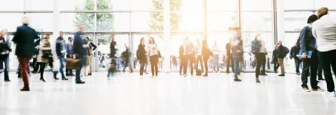 large crowd of anonymous blurred people at a trade show hall : Stock Photo or Stock Video Download rcfotostock photos, images and assets rcfotostock | RC-Photo-Stock.: