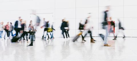 large crowd of anonymous blurred people walking in a modern hall : Stock Photo or Stock Video Download rcfotostock photos, images and assets rcfotostock | RC-Photo-Stock.: