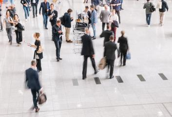 large crowd of anonymous business people at a trade fair in london- Stock Photo or Stock Video of rcfotostock | RC-Photo-Stock