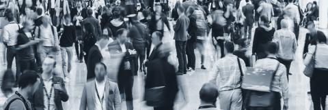 Large crowd of Anonymous business people walking at a trade fair- Stock Photo or Stock Video of rcfotostock | RC-Photo-Stock