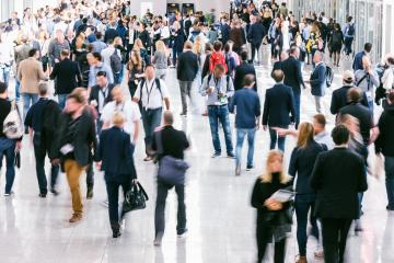 Large crowd of Blurred business people - Stock Photo or Stock Video of rcfotostock | RC-Photo-Stock