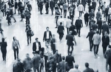 large crowd of blurred business people at a expo- Stock Photo or Stock Video of rcfotostock   RC-Photo-Stock