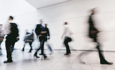 large crowd of blurred people walking in a futuristic corridor : Stock Photo or Stock Video Download rcfotostock photos, images and assets rcfotostock | RC-Photo-Stock.: