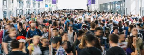 large crowd of people at a trade show- Stock Photo or Stock Video of rcfotostock | RC-Photo-Stock