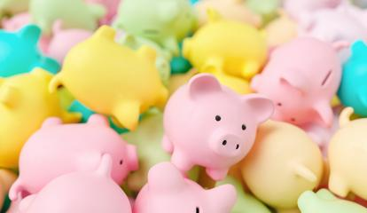 Large group of pastel colored piggy banks- Stock Photo or Stock Video of rcfotostock | RC-Photo-Stock