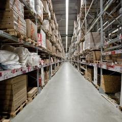 Large warehouses and female customers are choosing products. Blurred picture.- Stock Photo or Stock Video of rcfotostock | RC-Photo-Stock