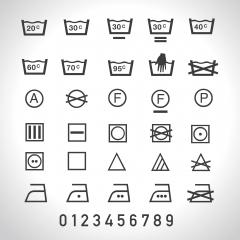 Laundry Vector Icons set, full collection. Vector illustration. Eps 10 vector file. - Stock Photo or Stock Video of rcfotostock | RC-Photo-Stock