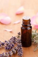 lavendel and parfum bottle with rose leafs on wooden background : Stock Photo or Stock Video Download rcfotostock photos, images and assets rcfotostock | RC-Photo-Stock.:
