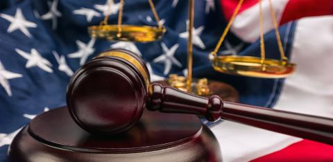 law gavel and scale with USA flag justice symbols  : Stock Photo or Stock Video Download rcfotostock photos, images and assets rcfotostock | RC-Photo-Stock.: