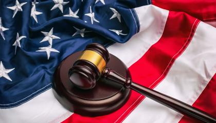 law gavel and USA america flag - American crime concept - Stock Photo or Stock Video of rcfotostock | RC-Photo-Stock