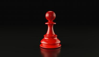 Leadership concept, red pawn of chess, standing against black background. 3d illustration, 3d rendering- Stock Photo or Stock Video of rcfotostock | RC-Photo-Stock