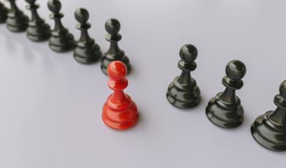 Leadership concept, red pawn of chess, standing out from the crowd of blacks pawn- Stock Photo or Stock Video of rcfotostock | RC-Photo-Stock