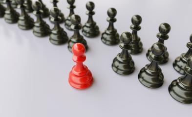 Leadership concept, red pawn of chess, standing out from the crowd of blacks - Stock Photo or Stock Video of rcfotostock   RC-Photo-Stock