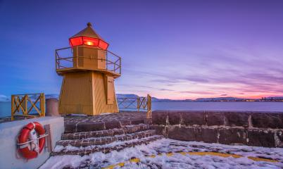 Leuchtturm in Reykjavik, Island im Winter : Stock Photo or Stock Video Download rcfotostock photos, images and assets rcfotostock | RC-Photo-Stock.: