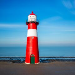 leuchtturm in westkapelle am meer- Stock Photo or Stock Video of rcfotostock | RC-Photo-Stock
