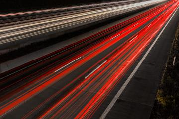 light trails on a highway at night - Stock Photo or Stock Video of rcfotostock | RC-Photo-Stock