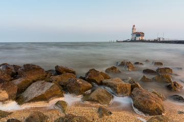 Lighthouse Paard van Marken Netherlands : Stock Photo or Stock Video Download rcfotostock photos, images and assets rcfotostock | RC-Photo-Stock.: