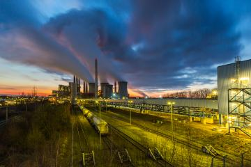 Lignite Power Plant on sunset : Stock Photo or Stock Video Download rcfotostock photos, images and assets rcfotostock | RC-Photo-Stock.: