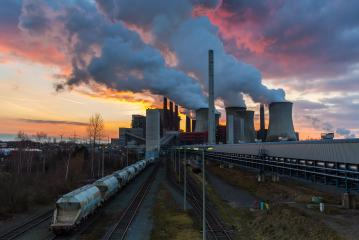 Lignite Power Plant pollution at sunset : Stock Photo or Stock Video Download rcfotostock photos, images and assets rcfotostock | RC-Photo-Stock.: