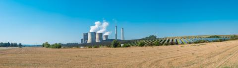 lignite power plant, solar power, wind turbines panorama- Stock Photo or Stock Video of rcfotostock | RC-Photo-Stock