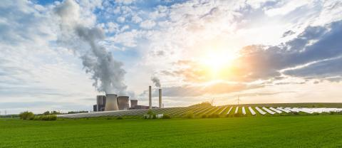 lignite power plant, solar power, wind turbines with cloudy sky panorama : Stock Photo or Stock Video Download rcfotostock photos, images and assets rcfotostock | RC-Photo-Stock.: