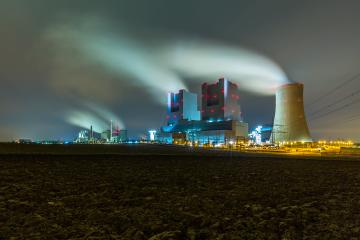 Lignite Power Plants at night on a agriculture field : Stock Photo or Stock Video Download rcfotostock photos, images and assets rcfotostock | RC-Photo-Stock.: