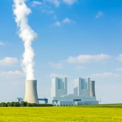 lignite-fired power plant with cooling tower in summer : Stock Photo or Stock Video Download rcfotostock photos, images and assets rcfotostock | RC-Photo-Stock.: