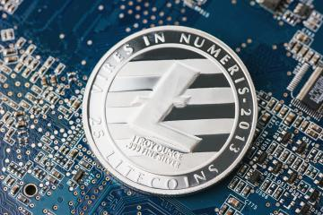 Litecoin new digital cryptocurrency on mainboard- Stock Photo or Stock Video of rcfotostock   RC-Photo-Stock