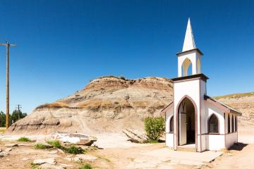Little Church at Drumheller canada  : Stock Photo or Stock Video Download rcfotostock photos, images and assets rcfotostock | RC-Photo-Stock.: