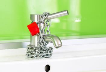 Locked Water Faucet- Stock Photo or Stock Video of rcfotostock | RC-Photo-Stock