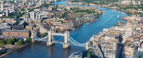 London aerial view with Tower Bridge- Stock Photo or Stock Video of rcfotostock | RC-Photo-Stock