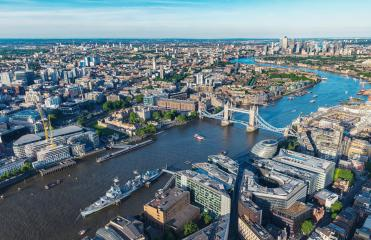 London aerial view with urban architectures and Tower Bridge- Stock Photo or Stock Video of rcfotostock | RC-Photo-Stock