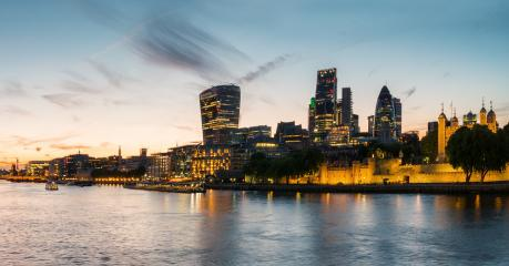 London Business district at sunset, london, uk- Stock Photo or Stock Video of rcfotostock | RC-Photo-Stock