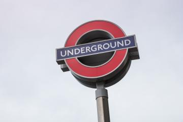 LONDON, UNITED KINGDOM MAY, 2017: London underground sign near the Westmisnster station : Stock Photo or Stock Video Download rcfotostock photos, images and assets rcfotostock | RC-Photo-Stock.: