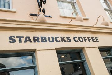 LONDON, UNITED KINGDOM MAY, 2017: Starbucks store. Starbucks is the largest coffeehouse company in the world. Illustrative editorial.- Stock Photo or Stock Video of rcfotostock | RC-Photo-Stock