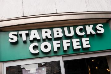 LONDON, UNITED KINGDOM MAY, 2017: Starbucks store. Starbucks is the largest coffeehouse company in the world, with 20,891 stores in 62 countries (2013).- Stock Photo or Stock Video of rcfotostock | RC-Photo-Stock