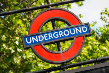 LONDON, UNITED KINGDOM MAY, 2017: View of the underground station sign near the Houses of Parliament.- Stock Photo or Stock Video of rcfotostock | RC-Photo-Stock