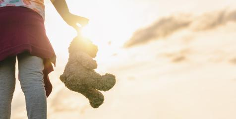 lonley girl holding a teddy bear at sunset. copyspace for your individual text.- Stock Photo or Stock Video of rcfotostock | RC-Photo-Stock