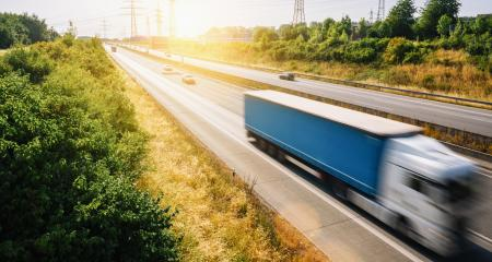 Lots of Trucks and cars on a Highway - transportation concept, copyspace for your individual text.- Stock Photo or Stock Video of rcfotostock   RC-Photo-Stock