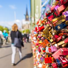 Love locks at the Hohenzollern Bridge in cologne- Stock Photo or Stock Video of rcfotostock | RC-Photo-Stock