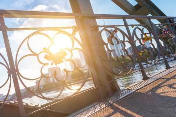 Love locks bridge at Frankfurt in germany- Stock Photo or Stock Video of rcfotostock | RC-Photo-Stock