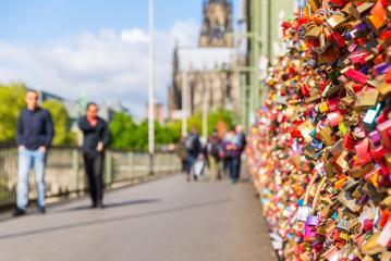 Love Locks on the Hohenzollern Bridge in cologne- Stock Photo or Stock Video of rcfotostock | RC-Photo-Stock