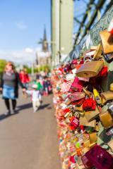 Love padlocks on a bridge in cologne - Stock Photo or Stock Video of rcfotostock | RC-Photo-Stock
